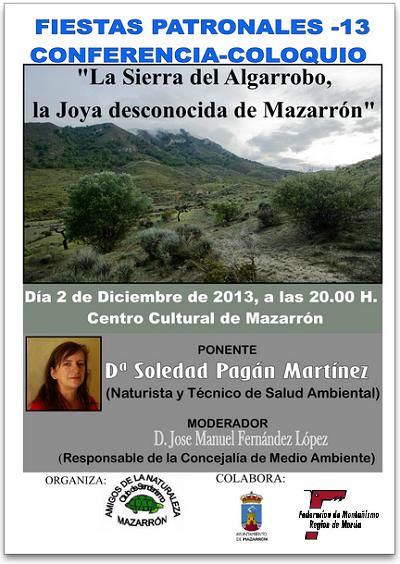 Fmrm conferencia coloquio sierra del algarrobo for Centro del algarrobo